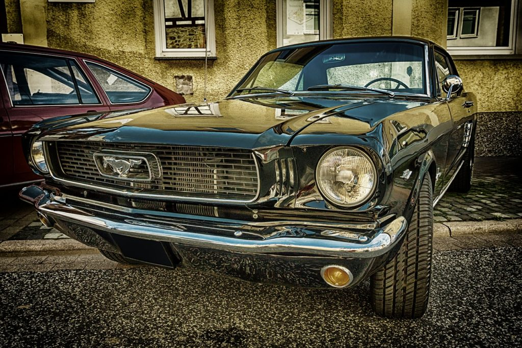 ford mustang retro