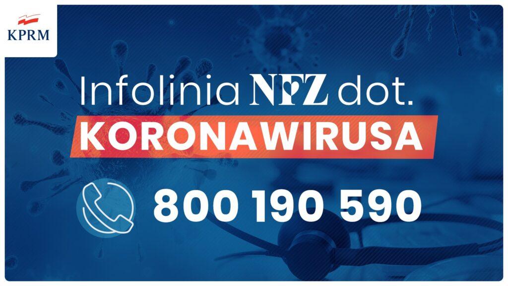 Infolinia NFZ dotycząca koronawirusa